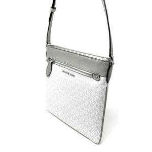 c9e40ba96d71 Michael Kors Bags - Michael Kors Connie Large Crossbody Bag White